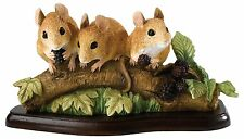 Border Fine Arts Family Outing Field Mouse Mammal Figurine Ornament 9.5cm A27056