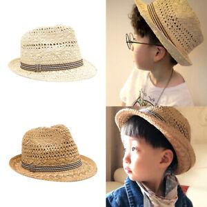 Niedliche Kinder Hut Strohhut Sonnenhut Mädchen Jungen Sommer Strandhut