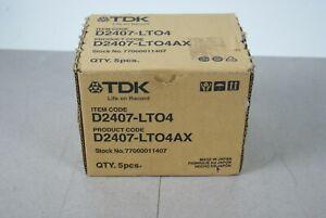 5-Pack TDK D2407-LTO4 Ultrium 4 Data Cartridge 800GB 1.6TB New