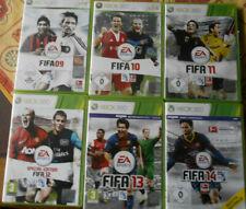 Microsoft Xbox 360 -  7 Spiele - FIFA Serie  08 -14
