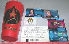 Star Trek Experience Las Vegas Hilton Ticket Stub & The Final Frontier Cup &More