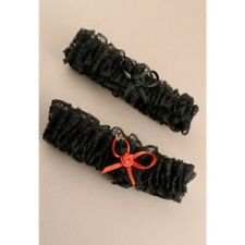 Garter Wedding Black Black-Red Lace Satin Bride Stag Party