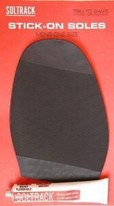 Soltrack DIY Stick On Soles With Glue Shoe Repair Supplies-Ladies & Mens (Pair)