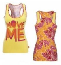 ZUMBA® Wear Move Me Racer back in yellow/pink/orange Size S