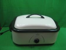 Vintage Rival 16 Quart Roaster Oven with Buffet Server