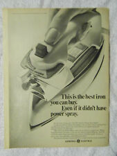 1970 Magazine Advertisement Page For General Electric Power Spray Iron GE Ad