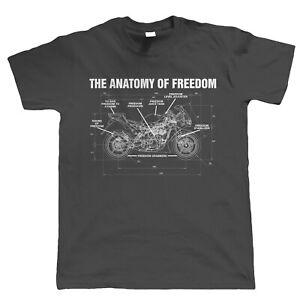 Anatomy Of Freedom, Mens Biker T Shirt - Superbike MotoGP TT Gift for Him Dad