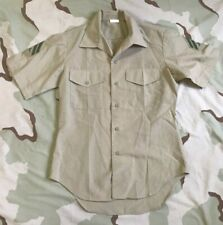 US MARINE USMC DRESS SHIRT KHAKI 2122 SHORT SLEEVE MAN'S POLY/WOOL CORPORAL 15