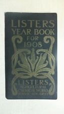Antique Listers Agricultural Chemical Works, Newark, Year Book 1908 Notebook Bk5