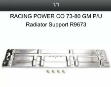 R9673 Chrome Steel 73-80 Chevy Pick Up Truck Standard Radiator Support Panel