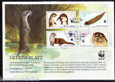Germany 1987 MNH Used, No Gum, CTO, WWF, Otter, Wild Animals