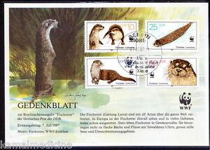 Germany 1987 MNH CTO, WWF, Otter, Wild Animals (with few yellow spots)