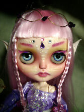 Ooak Custom Neo Blythe Doll - Elven Make-up with Clothes/Accessories