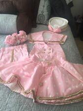 Custom Sportswear/Sailor Pink Polka Dot Rhinestone Pageant 5 Pcs. 2-3T Glitzy