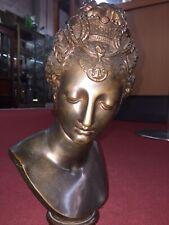 Sculpture Diane de Poitier d'après J.Goujon - bronze Barbedienne - H29cm