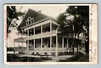 Sioux City IA, Sioux City Boat Club Building, Early Vintage Iowa Postcard