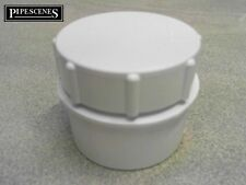 """Solvent Weld Access Cap Rodding Eye Waste Water Glue Fit Cement 50mm 55mm 2"""""""