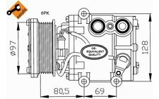 NRF Compresor, aire acondicionado FORD MONDEO COUGAR COURIER FUSION KA 32401