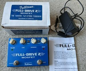 Fulltone Full-Drive 2 Mosfet Edition overdrive guitar pedal + 18V mains adaptor
