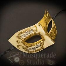 Mens Musical Half Phantom of the Opera Classic Masquerade Ball Mask [White/Gold]
