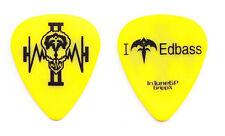 Queensryche Eddie Jackson Yellow Guitar Pick - 2006 Operation Mindcrime II Tour