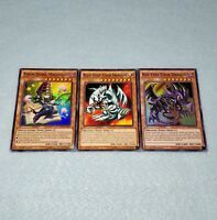 Yugioh Toon Blue Eyes White Dragon Dark Magician Red Eyes Black Dragon Card Set