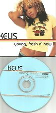 KELIS Young Fresh N New  w/EDIT & INSTRUMENTAL PROMO CD single PHARRELL WILLIAMS