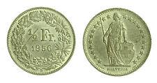 pci1875) Svizzera  Switzerland  Helvetia - SVIZZERA ½ Franco 1956 toned