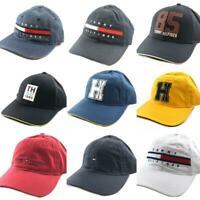 Tommy Hilfiger Men's Adjustable Hat Cap Navy Black Red White Yellow Denim