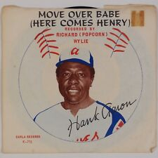 """RICHARD POPCORN WYLIE: Move Over Babe, Here Comes Hank Aaron 7"""" 45 PS"""