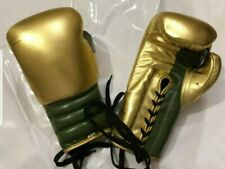 New Real White Leather Boxing Gloves any Logo R Name, inspired by winning grant