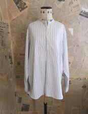 Gents vintage 1940s striped cotton shirt, collarless