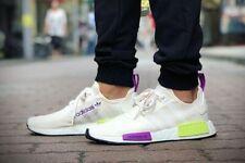 Adidas Originals NMD_R1 Men's (Size 11.5 - 13) WHITE YELLOW PURPLE D96626 Boost