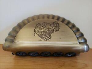 Turkey Fan & Beard Display, holds 1 Fan & 5 Beards, Bronze