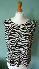 Evie Abstract Zebra blouse, zebra top, black and white stripes