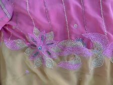 Lovely Georgette Saree Intricate/Sequins/ Stitched Blouse Good used condition-