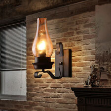 Vintage Outdoor Bronze Wall Lantern Light Fixture Porch Rustic Fixture Lamp US