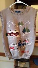 WOMEN'S RALPH LAUREN Vintage Sweater VEST SLEIGHRIDE 1983 Hand Knit /Britain MED
