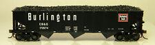 NIB HO Atlas TM #20004899 AAR 70 Ton 9 Panel Hopper w/Load Burlington #172674