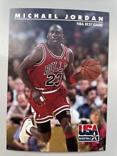Michael Jordan Chicago Bulls 92-93 Skybox USA Basketball NBA Best Game #40