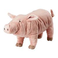 "Ikea Knorrig Pink Pig Kids Baby Soft Stuffed Animal Farm Plush Toy 16"" NEW FS"