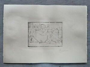 """PABLO PICASSO -radierung HANDSIGNIERT :""""Suite Vollard"""""""