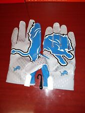NIKE VAPOR KNIT NFL Detroit Lions RECEIVERS FOOTBALL GLOVES XXL 2XL PGF397-111