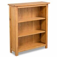 vidaXl Solid Oak Wood 3-Tier Bookcase Book Shelves Cabinets Display Shelf