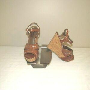Soda Wedge Heel Dress Sandal Shoe Brown 7M NWOB