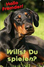 DOBERMANN - A4 Metall Warnschild SCHILD Hundeschild Alu Türschild - DBM 07 T18