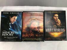 Tom Cruise 3 DVD lot Minority Report The Last Samurai War of the Worlds