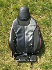 Tesla Model S 2013 Front Left European Leather / Alcantara Seat FSBL 17998 Back