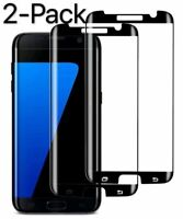 2XCase Friendly Tempered Glass Screen Protector for Samsung Galaxy S7 Edge Black