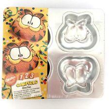 Garfield the Cat Face Wilton Mini Cake Pan, NIP, 4 Face Molds, Instructions